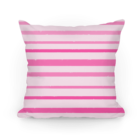 Watercolor Stripe Pattern Pillow