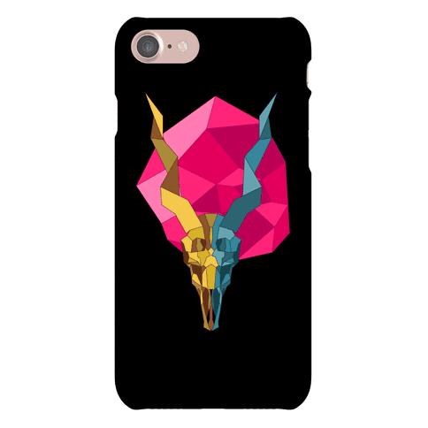 Geometric Blackbuck Skull Phone Case