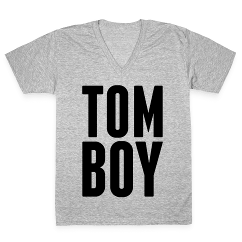 Tom Boy V-Neck Tee Shirt