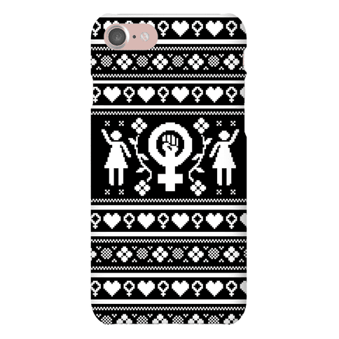 Girl Power Ugly Sweater Pattern Case Phone Case