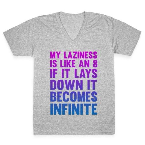 Infinite Laziness V-Neck Tee Shirt