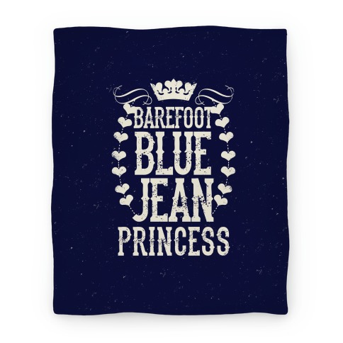 Barefoot Blue Jean Princess Blanket