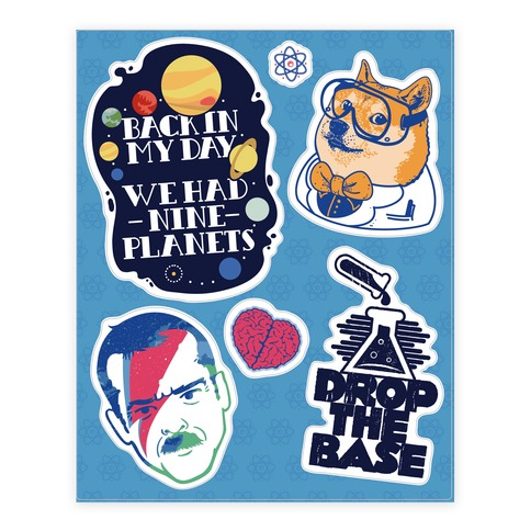 Science Fan Stickers and Decal Sheet