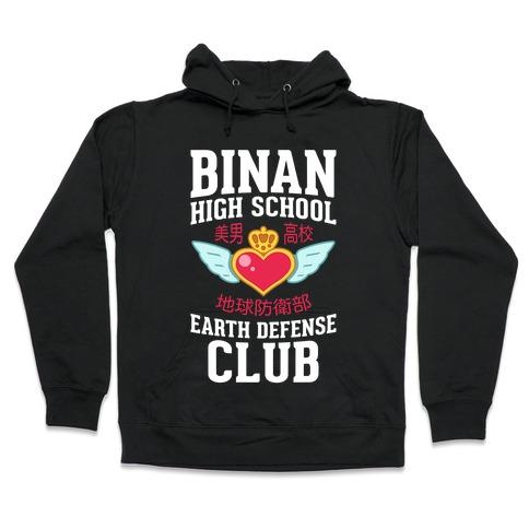 Binan High School Earth Defense Club (Red) Hooded Sweatshirt