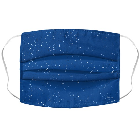Blue Speckled Camp Pattern Accordion Face Mask