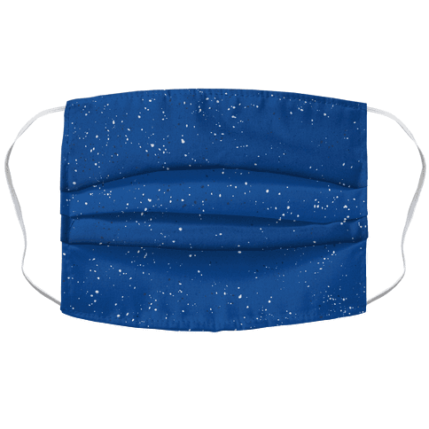 Blue Speckled Camp Pattern Face Mask Cover