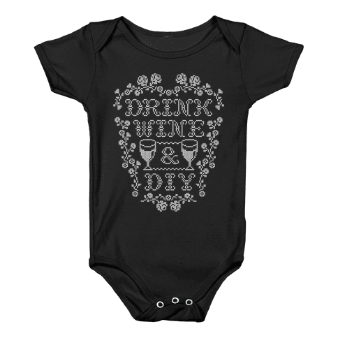 Drink Wine and D.I.Y. Baby Onesy