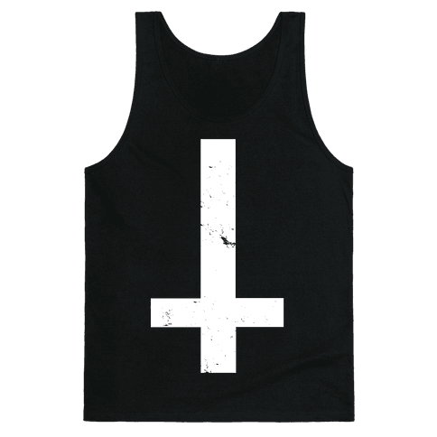 Upside Down Cross Tank Top