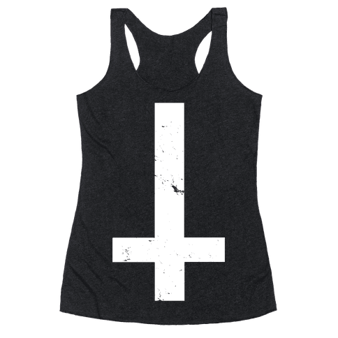 Upside Down Cross Racerback Tank Top