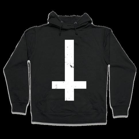 Upside Down Cross Hooded Sweatshirt