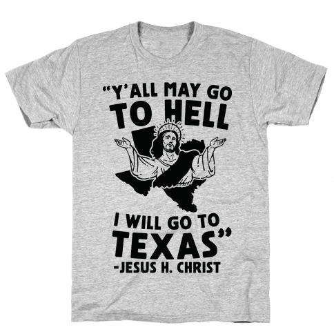 Texas Jesus Mens T-Shirt