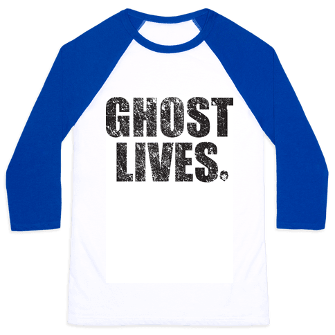 Ghost Lives Baseball Tee