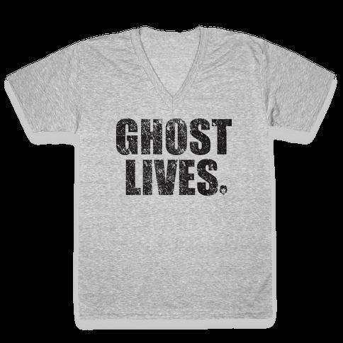 Ghost Lives V-Neck Tee Shirt