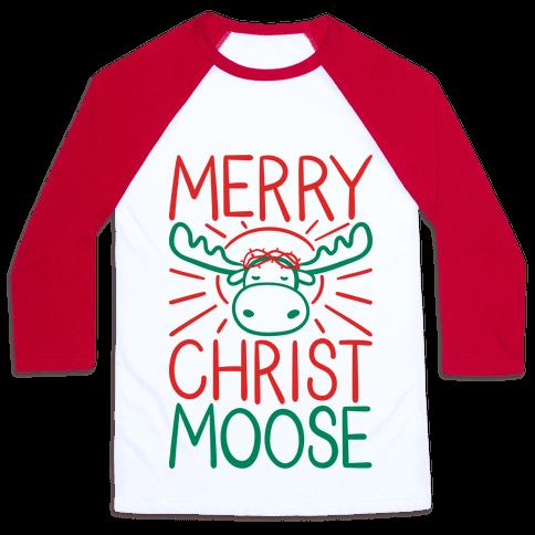 Merry Christmoose Baseball Tee