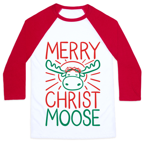 Merry Christmoose Baseball Tee