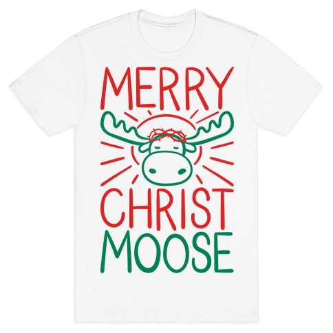 Merry Christmoose Mens T-Shirt