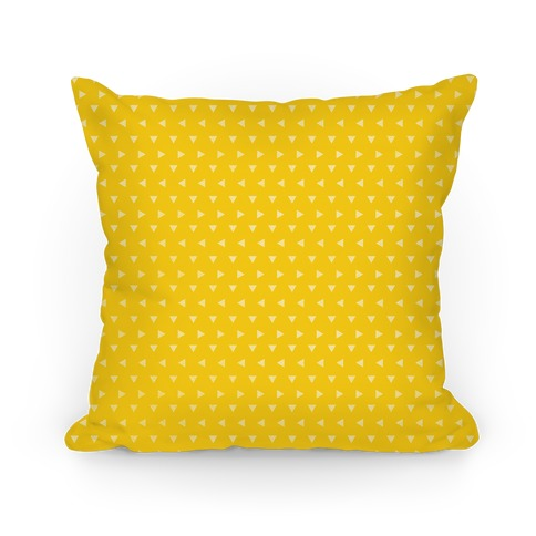 Yellow Triangle Pattern Pillow