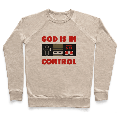 God's in Control (nerdy) Pullover