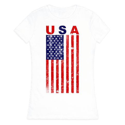 USA Flag Womens T-Shirt
