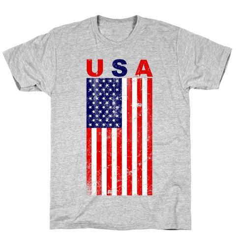 USA Flag Mens/Unisex T-Shirt