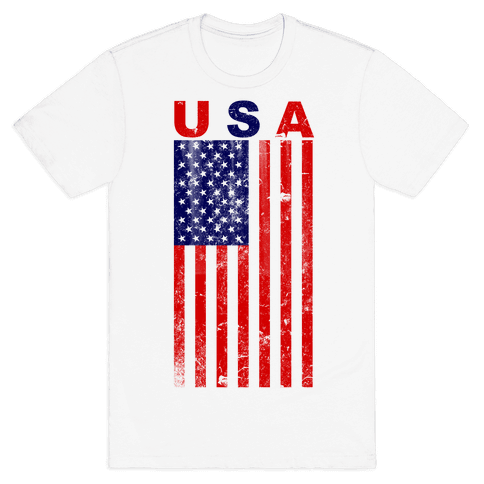 USA Flag Mens T-Shirt