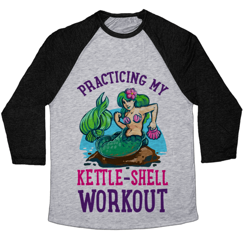 Practicing My Kettle-Shell Workout! Baseball Tee