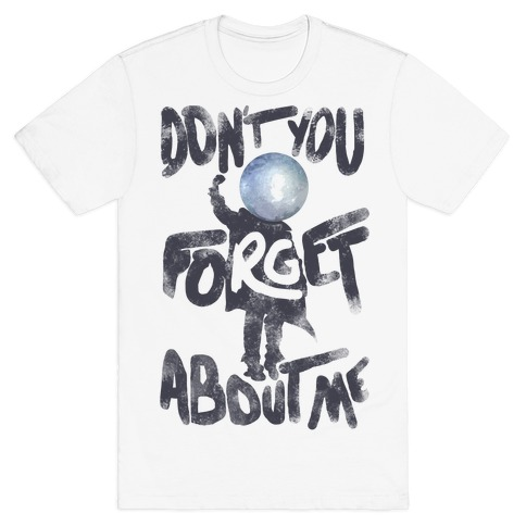 Pluto Don't You Forget About Me Mens T-Shirt