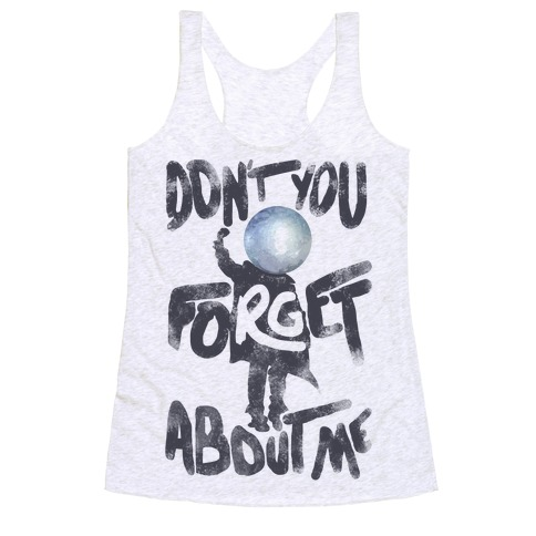 Pluto Don't You Forget About Me Racerback Tank Top