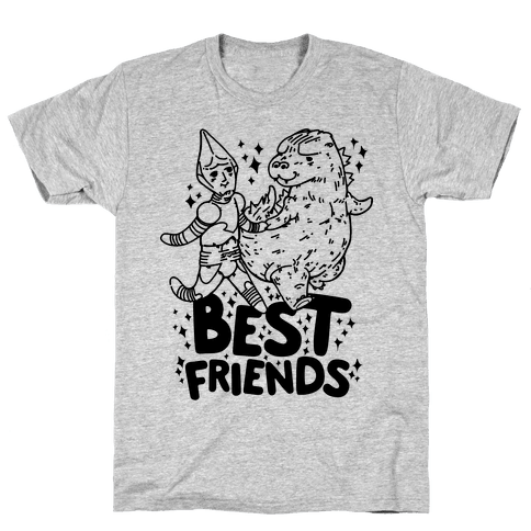 Best Friends Jet Jaguar & Godzilla Mens T-Shirt