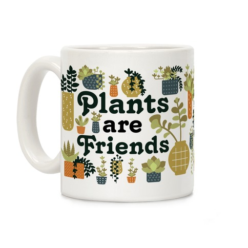 Plants Are Friends Retro Coffee Mug