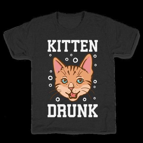 Kitten Drunk Kids T-Shirt