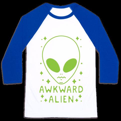 Awkward Alien Baseball Tee
