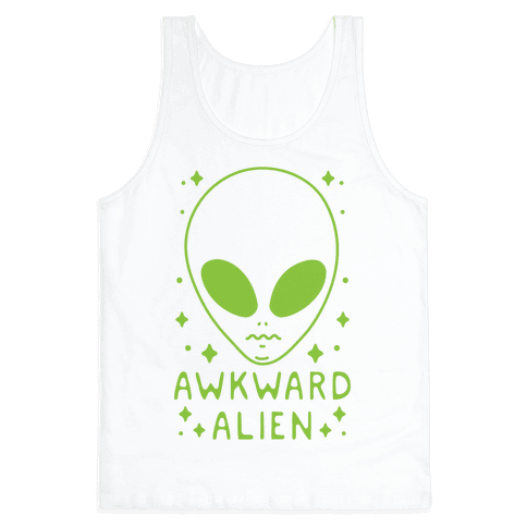 Awkward Alien Tank Top