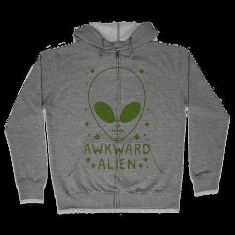 Awkward Alien Zip Hoodie