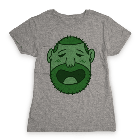 Cute Scruffy Dude (Green) Womens T-Shirt