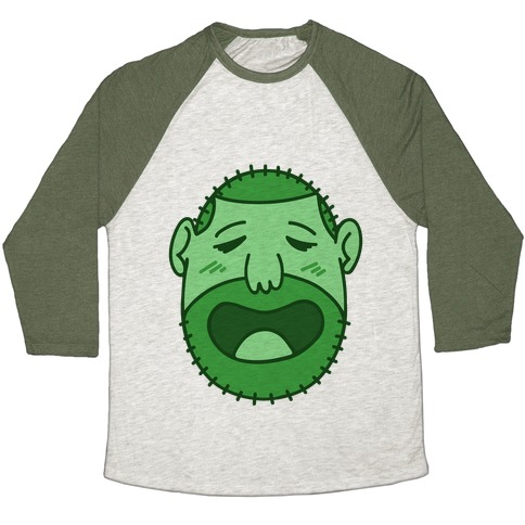 Cute Scruffy Dude (Green) Baseball Tee