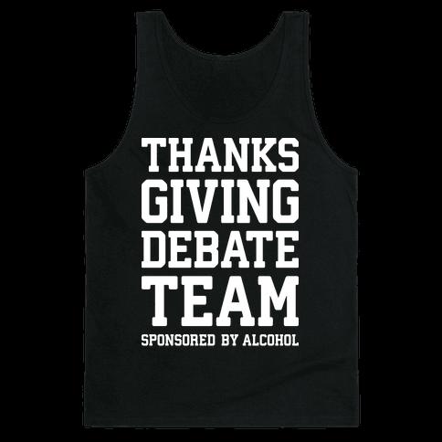 Thanksgiving Debate Team Tank Top
