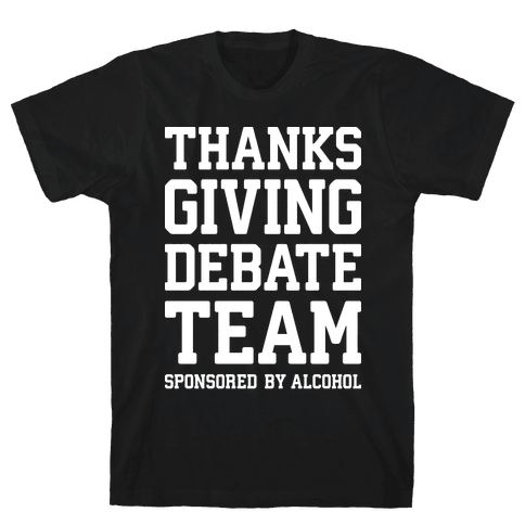 Thanksgiving Debate Team Mens T-Shirt