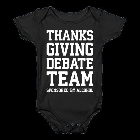Thanksgiving Debate Team Baby Onesy