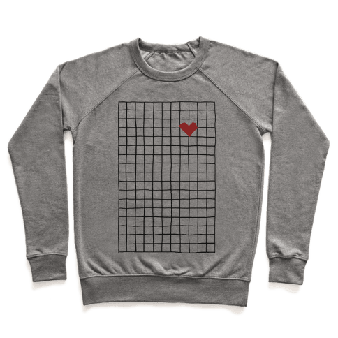 Graph My Heart Grid Pattern Pullover