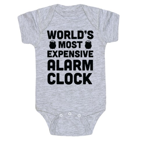 World's Most Expensive Alarm Clock Baby Onesy
