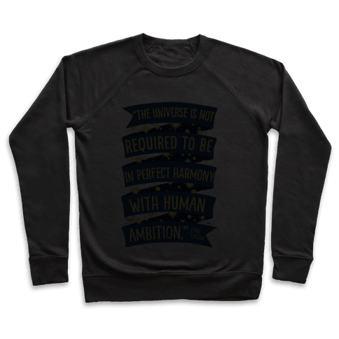 The Universe Is Not Required To Be In Harmony With Human Ambition Pullover