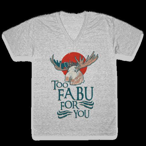 Too Fabu for You Thranduil Moose V-Neck Tee Shirt