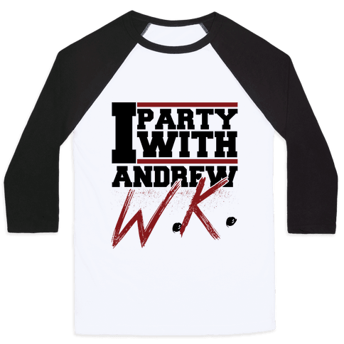 Party with Andrew Baseball Tee