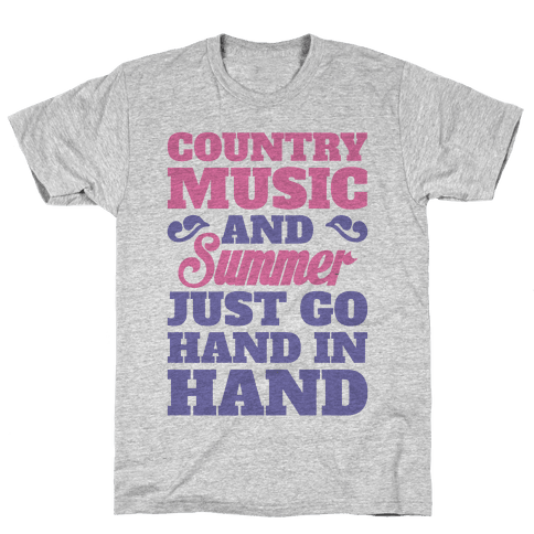 Country Music and Summer Mens T-Shirt