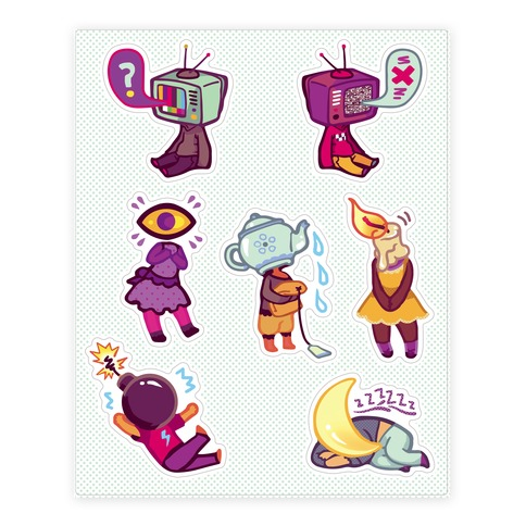 Object Head  Sticker/Decal Sheet