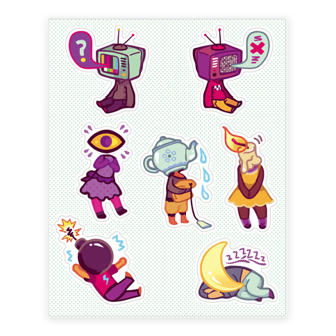 Object Head Sticker and Decal Sheet