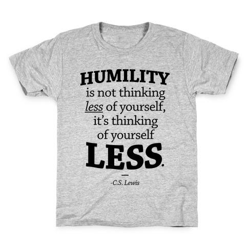 """Humility"" C.S. Lewis Kids T-Shirt"