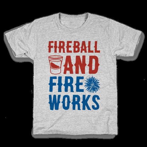 Fireball and Fire Works  Kids T-Shirt