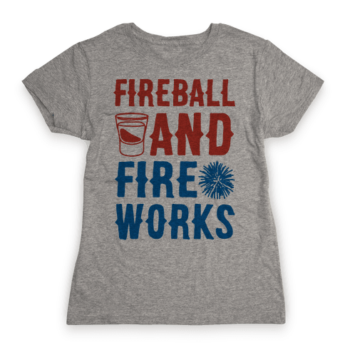 Fireball and Fire Works  Womens T-Shirt